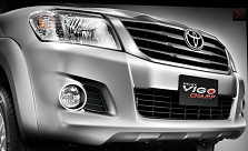 new 2016, 2017 Toyota Hilux Vigo comes with new bold grill and bumper